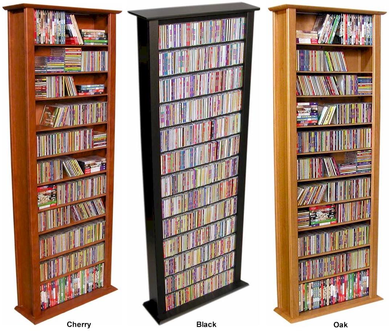 "754 CD 312 DVD 76"" Tall Tower CD DVD Storage Rack NEW"