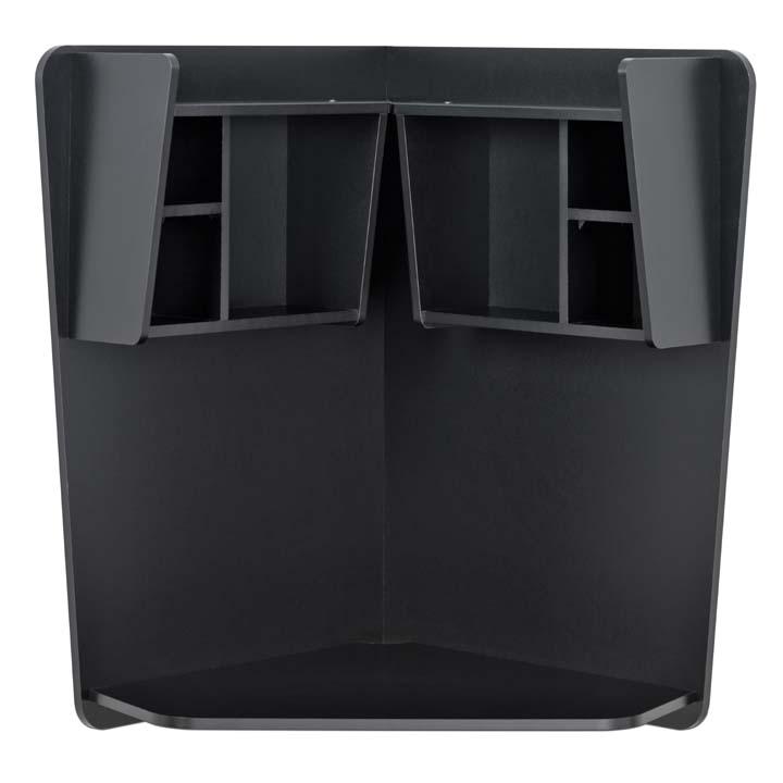 wall mounted floating corner desk w storage shelves new 2 colors ebay. Black Bedroom Furniture Sets. Home Design Ideas