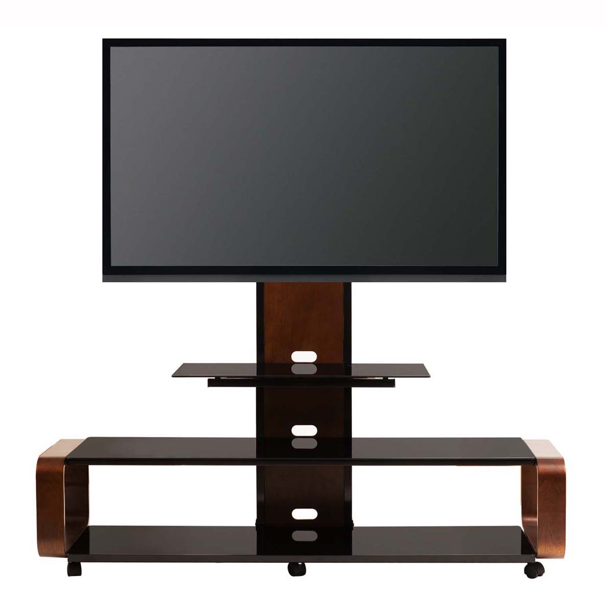 multi function tv stand w mount wheel for 35 45 50 60 65 70 80 inch lcd tv new ebay. Black Bedroom Furniture Sets. Home Design Ideas