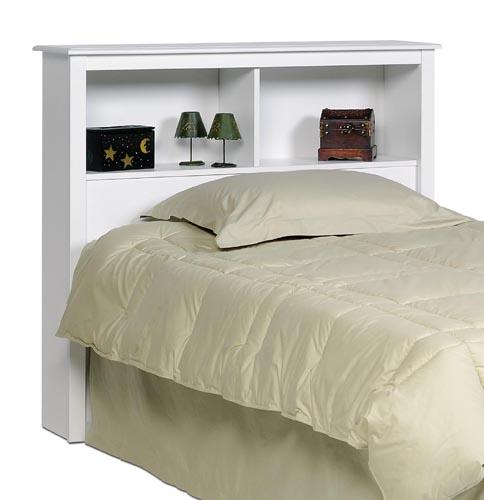 twin size bed storage shelf headboard white new ebay