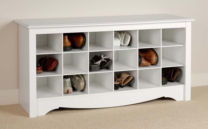 Sonoma shoe cubbie storage bench for entryway mudroom ebay - Storage for shoes in entryway ...