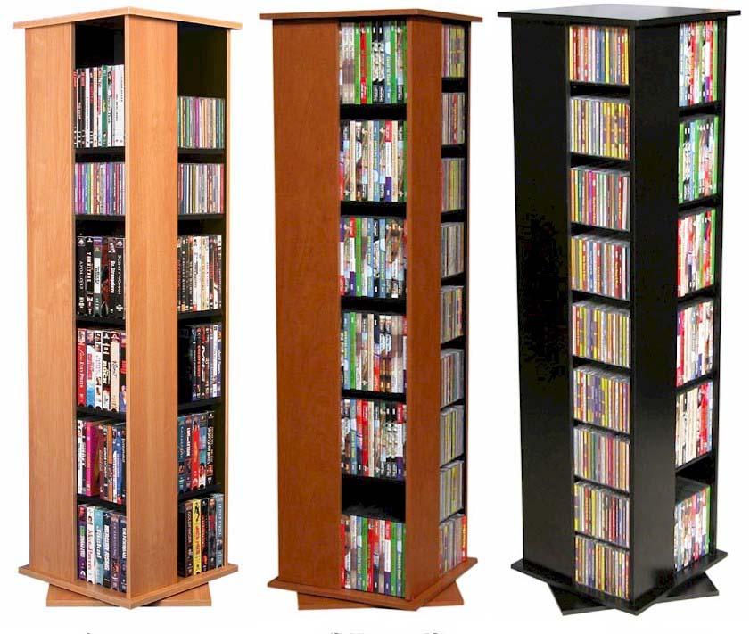 612 cd 288 dvd floor spinner storage tower rack new ebay - Cd storage rack tower ...
