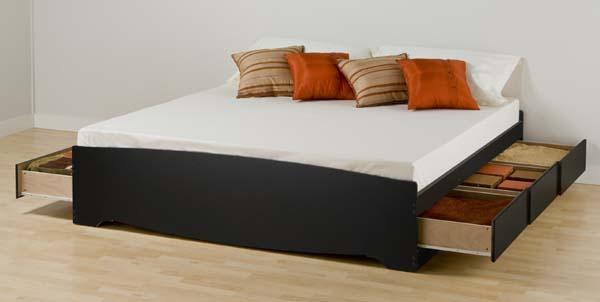 sonoma king platform bed w storage drawers black new ebay. Black Bedroom Furniture Sets. Home Design Ideas
