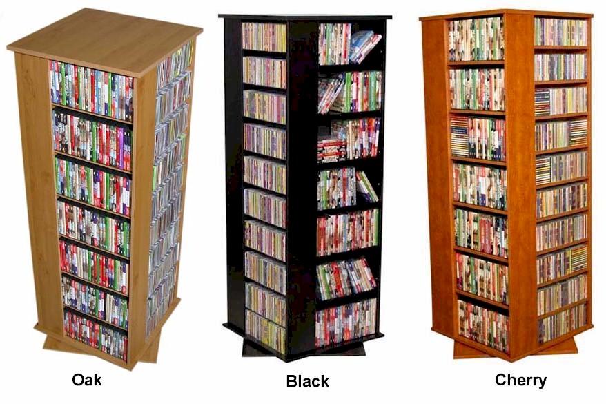 Huge 1600 Cd 756 Dvd Spinner Cd Dvd Storage Rack New Ebay