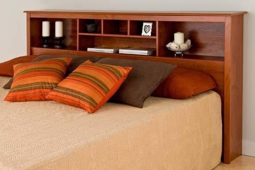 Cal King Bookcase Headboard: Sonoma King Size Bed Bookcase Headboard