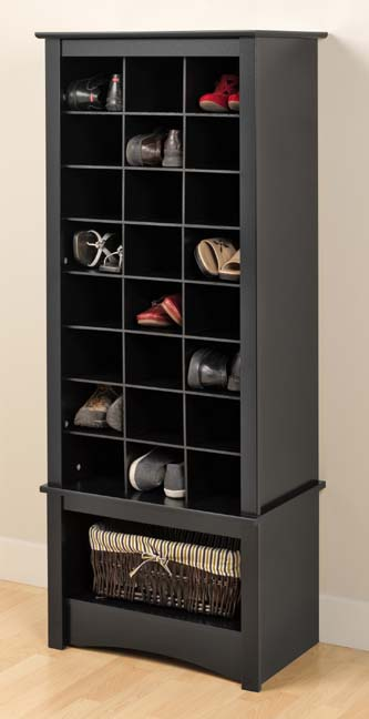 Foyer Cabinet Tall : Tall shoe cubbie storage cabinet for entryway mudroom