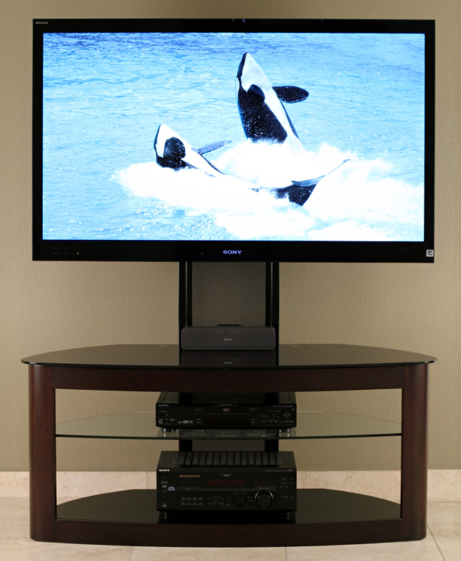 Transdeco Tv Stand With Mount 65 Inch Flat Screen Console