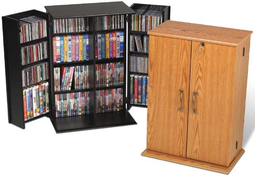 CD/DVD/VHS Storage Cabinet W/ Lock   NEW